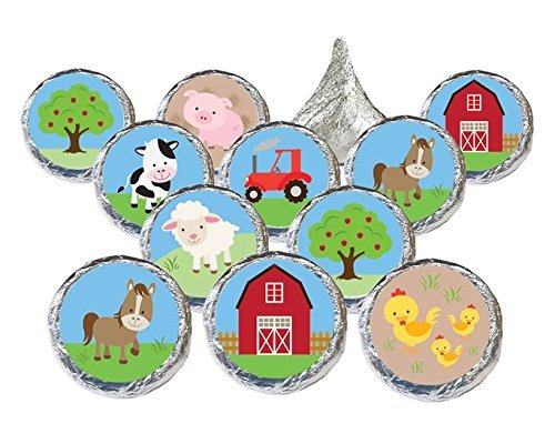 farm-animals-barnyard-party-decoration-stickers-for-hershey-kisses-set-of-324-by-distinctivs