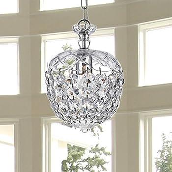 Saint Mossi Modern K9 Crystal Raindrop Chandelier Lighting Flush Mount LED Ceiling Light Fixture Pendant Lamp For Dining Room Bathroom Bedroom Livingroom 1