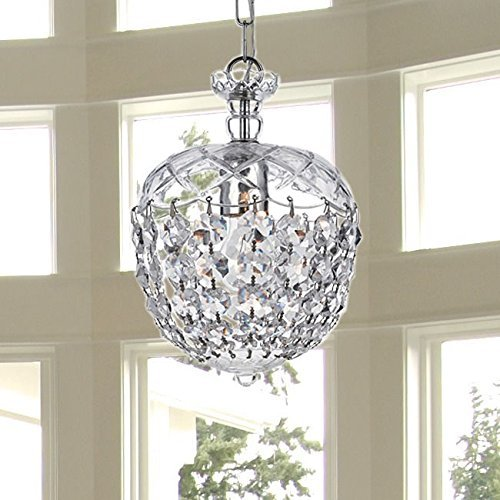 Contemporary chandeliers amazon saint mossi modern k9 crystal raindrop chandelier lighting flush mount led ceiling light fixture pendant lamp for dining room bathroom bedroom livingroom 1 aloadofball Choice Image