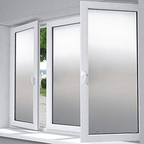 Wayward Dekorative Fenster Film Cover,Selbstklebende glasfolie,Mattierte privatsphäre fensterfolie,PVC Glas Ex-Schutz Sonnenschutz Badezimmer Balkon Fenster-Aufkleber Aufkleber-F 45x300cm(18x118inch)
