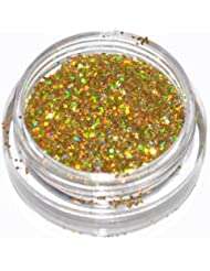 Gold Laser Eye Shadow Loose Glitter Dust Body Face Nail Art Party Shimmer Make-Up by Kiara H&B