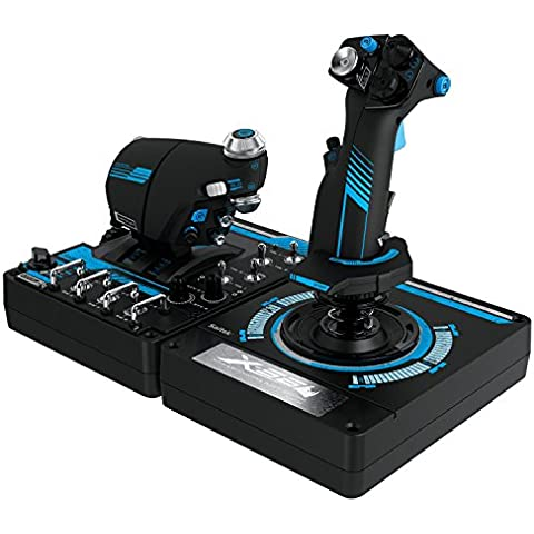 Logitech G Saitek Pro Flight X56 Rhino - Sistema de control para simuladores, color negro