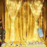 LED Lichterkette Innen 2M * 2M Lichterketten Vorhang Batterienbetrieben Fernbedienung Sound Aktivierte Musik Sync Light Wasserdichte Wasserfall Icicle Lights