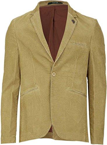 YAKE by S.O.H.O. NEW YORK Herren Sakko Slim Fit, Blazer aus Cord, BRIGHTON, Farbe: Ocker_002, Größe: 50 (Klappe Übergroße)