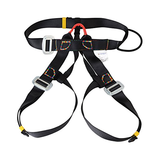Harness, iTECHOR Multipurpose Outdoor Half-body Adjustable Outdoor Mountain Climbing Safety Belt Harness Equipment