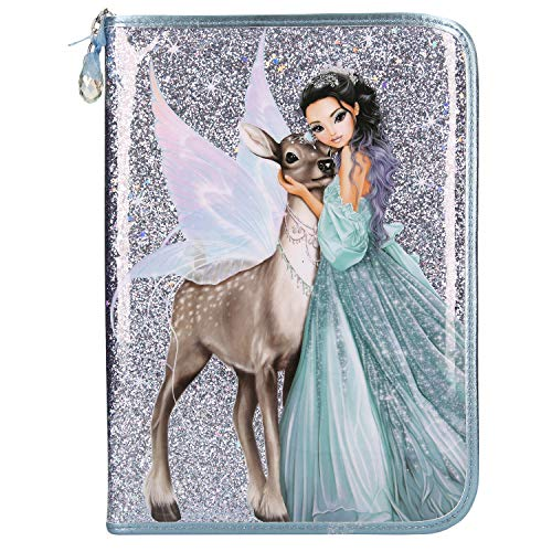 Depesche 10696 - Federtasche XXL, Fantasy Model Iceprincess, ca. 28 x 20 x 4 cm, blau