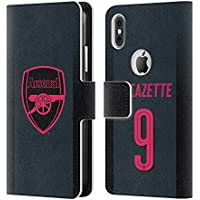 Official Arsenal FC Alexandre Lacazette 2017/18 Players Third Kit Group 2 Leather Book Wallet Case Cover For Apple iPhone X
