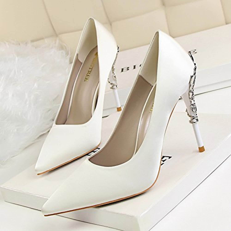 m. / mme yalanshop talons haut style métal avec aHommes pointe de et graphiques fine pointe aHommes damas u nique lumière buse chaussures chaussures de mariage...rg16224 excellente valeur belle apparence british. d37e34