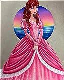 5D Diy Diamante Pintura Princesa Cubo De Rubik Rhinestones Diamante Pintura Kits De Punto De Cruz Bordado De Diamantes Completo