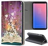 Samsung Galaxy S3 / S3 Neo Hülle Premium Smart Einseitig Flipcover Hülle Samsung S3 Neo Flip Case Handyhülle Samsung S3 Motiv (1503 Schmetterlinge Baum Buch)