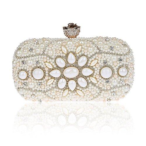 Borsa dolce delle signore in rilievo/ borsa di moda strass partito/ borsa fibbia fiore-B B