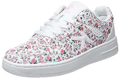 kelme Retrobasket Flowers, Sneakers Basses Femme, (Estampado 67), 38 EU