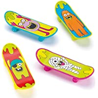 Skateboard da dita Monsters per Bambini in 4 Design Assortiti da Regalare alle Feste (confezione da 8) - Assortiti Skateboard