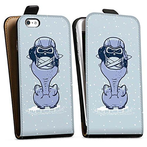 Apple iPhone X Silikon Hülle Case Schutzhülle Pinguin Elefant Zeichnung Downflip Tasche schwarz