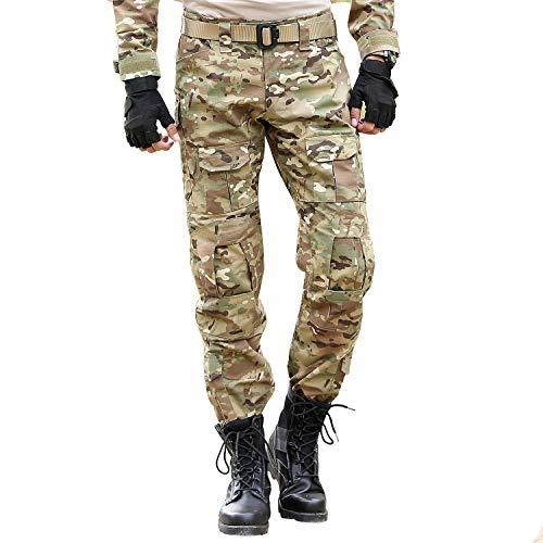 BWBIKE Pantaloni Tattici Militari da Uomo con Ginocchiere Pantaloni da Lavoro da Combattimento