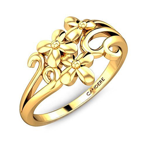 ( 2. ) Candere By Kalyan Jewellers 18KT Yellow Gold Ring for Women