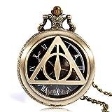 Harry Potter und die Heiligtümer des Todes Taschenuhr, modische Taschenuhr, die Heiligtümer des Todes, Lord Voldemort-Taschenuhr für Herren, Retro-Stil, Kupfer
