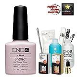 CND Shellac USA Starter Kit–Romantique Farbe Starter-Set–Top & Base Coat + Essentials