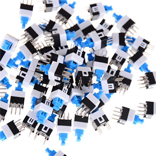 Button Push - 50pcs Lot 7x7mm 7 7mm 6pin Push Tactile Power Micro Switch Self Lock On Off Button Latching - Button Your Umbrella Drill Plastic Start Small Latch Pocket Toddlers Pusher Push Onof -
