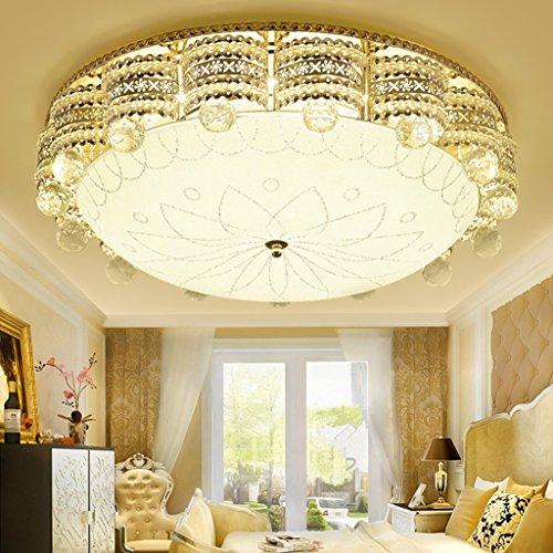 @éclairage Plafonnier en cristal de lumière de plafond simple moderne rond LED Chambre salon étude lumière (taille : 40 * 15cm)