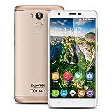 OUKITEL U15 Pro 5.5 inch 4G Android 6.0 MT6753 Octa Core 3G RAM+32G ROM Smartphone IPS HD Screen Dual SIM Metal Cover Mobile Phone Fingerprint HotKnot OTG Cellphone GPS (Gold)