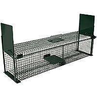 Moorland Safe 5007 - Trampa Extragrande para Animales (100 x25 x25cm, con 2 entradas)