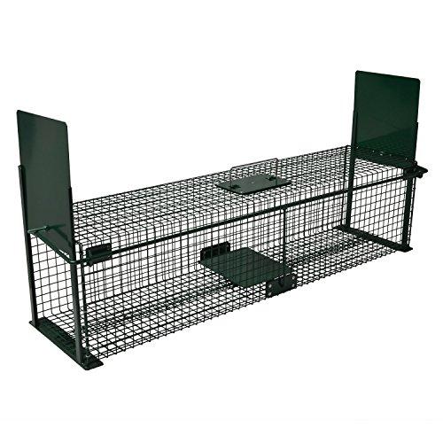 *Moorland Safe 5007 extra große Lebend-Falle 100x25x25 cm als Marder-Falle, Katzen-Falle, Fuchs-Falle mit 2 Eingängen*