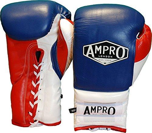 Ampro-Mirage-V2-profesional-guantes-de-boxeo-con-cordones-azul-marinoblancorojo-18-onzas