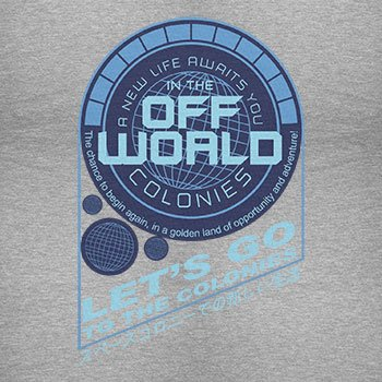 TEXLAB - Off World Colonies - Herren Langarm T-Shirt Grau Meliert
