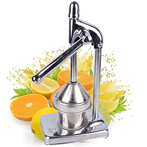 XuBa Orange Stainless Steel Juice Press Manual Lemon Pomegranate Citrus Juicer Hand-Pressed Juicer