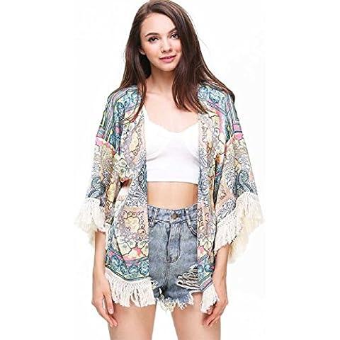 Culater® Mujeres Kimono Tapas De La Gasa De La Rebeca De Floja (L)