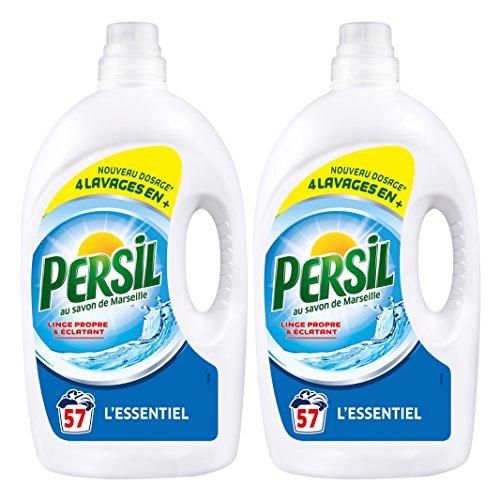 Persil Lessive Liquide  L'Essentiel 4l 57 Lavages - Lot de 2