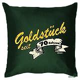 Exklusives Geschenk zum 70. Geburtstag - Goldstück seit 70 Jahren - Kissen mit Füllung als originelle Deko zum 70ger!