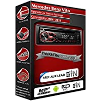 Mercedes Vito, estéreo de coche PIONEER CD MP3Reproductor Radio con USB en la parte delantera Aux en