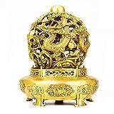 DECORATION Chinesische Drachen-musterskulptur, Glückliche Dekorationen, Studie-desktopsammlung, Hauptdekoration Skulptur (11 X 11 X 16 cm)