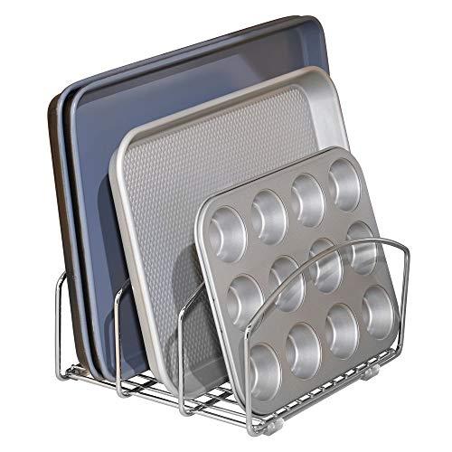 mDesign scolapiatti in metallo - ottimo scolapiatti da appoggio per ogni lavello - scolapiatti da lavello pratico resistente e durevole nel tempo