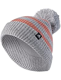 adidas Chunky Bonnet Fille, Medium Grey Heather/White/Tactile Rose, FR : Taille Unique (Taille Fabricant : OSFC)