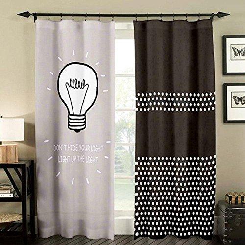 Blackout Window Vorhänge für Wohnzimmer Schlafzimmer Verdunkelung Fenster Behandlungen Drape Panels, 1 Paar , color 2 , 180*270cm -