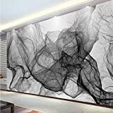 3D Murales Papel Pintado Pared Calcomanías Decoraciones Moderno Moderno Negro Blanco Rayas Líneas Líneas Habitación Fondo Arte Decoración Art º Chicas Habitación (W)400X(H)280Cm