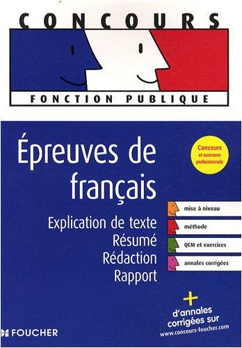 Epreuves de français : Explication de t...