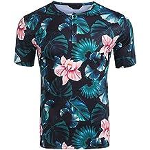1cee1308e4def9 Burlady Herren T-Shirt Kurzarmshirt Sommer Tee Henleyshirt O-Neck Shirt  Baumwolle Freizeit/