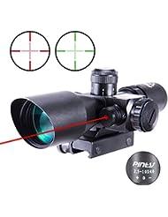 IRON JIA'S Lunettes de visée Optique de Rifle 2.5-10x40ER Chasse Rouge / Vert Riflescope laser avec Red Dot Champ Combo Airsoft Gun Arme Sight