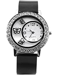 Swadesi Stuff New Arrival Cute Butterfly Black Stylish Analog Watch - For Girls & Women
