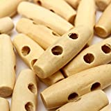 50pcs Wooden Knitting Buttons DIY Sewing...