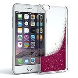 Schutzhülle mit Glitzerflüssigkeit für Apple iPhone 6 & iPhone 6S I Backcover Glitzer I Glitzerhülle I Handyschale Glittery aus TPU / Silikon, von EAZY CASE, auslaufsicher, Durchsichtig, Liquid Pink