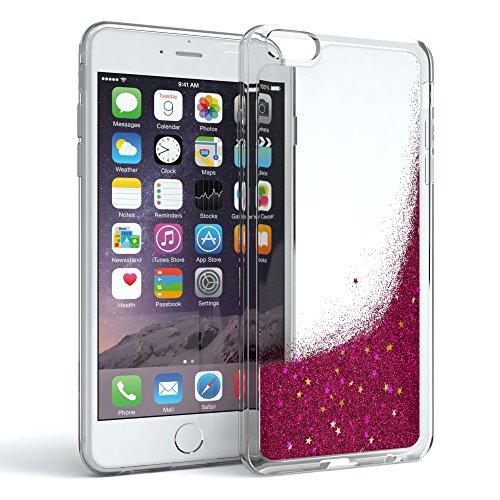 Schutzhülle mit Glitzerflüssigkeit für Apple iPhone 6 & iPhone 6S I Backcover Glitzer I Glitzerhülle I Handyschale Glittery aus TPU / Silikon, von EAZY CASE, auslaufsicher, Durchsichtig, Liquid Pink (I Phone 6 Case Glitzer-flüssigkeit)