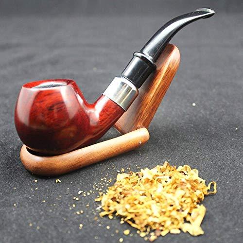 ZWB Tabak Pfeifen Klassische Handgemachte Natürliche Rote Holz Ring Pfeife Set Rosenholz Rauch Tabak Holzpfeifen Werkzeug 10X9Mm Filterbeutel Halter