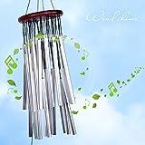 yosoo groß Windspiel 27 Röhren silber Metall Tube Kirche Home Garten-Dekorationen zum Aufhängen im Glocken Windspiel Glocken