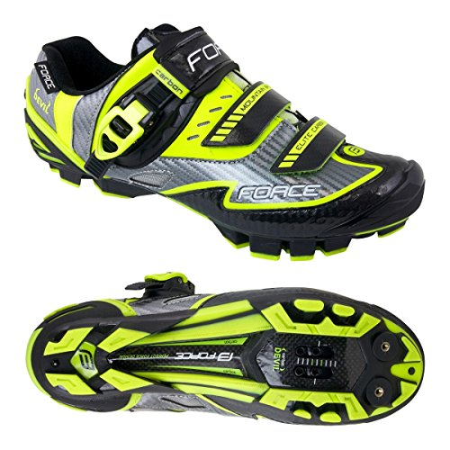MTB Schuhe Force Devil Carbon, Sportliche Schuhe fluo-gelb