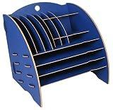 Werkhaus A4 Big Organizer blau Schreibtisch Holzwerkstoff